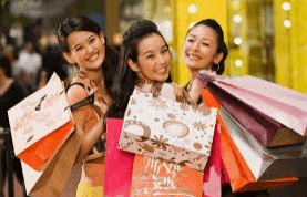 Chinese Shoppers Girls