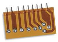 A single sided printed circuit board